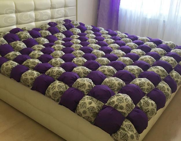 Бомбон-одеяло коврик плед своими руками